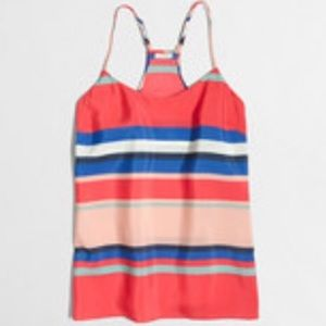 J.Crew Factory Striped Racerback Cami size 0
